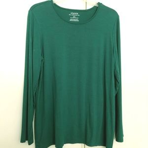 Chico's Teal Green Long Sleeve Top